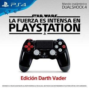 El mando DUALSHOCK 4 Edición Darth Vader