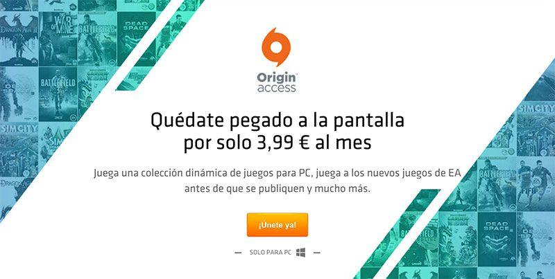 ORIGIN ACCESS PARA PC YA DISPONIBLE EN ESPAÑA