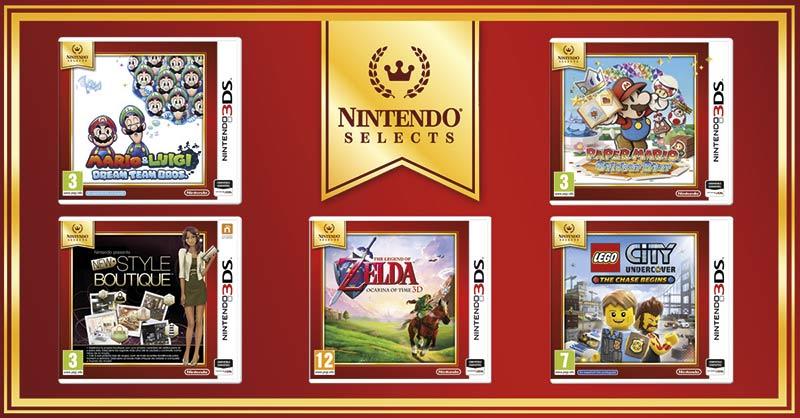 La familia Nintendo Selects aumenta con cinco nuevos imprescindibles de Nintendo 3DS