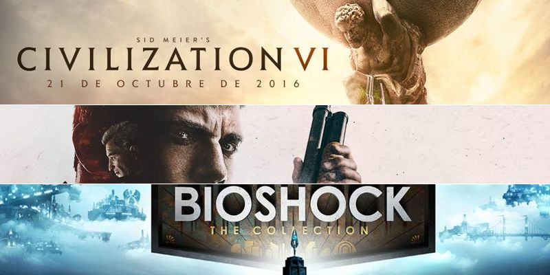 Nuevos materiales de Civilization VI, Mafia III y Bioshock: The Collection