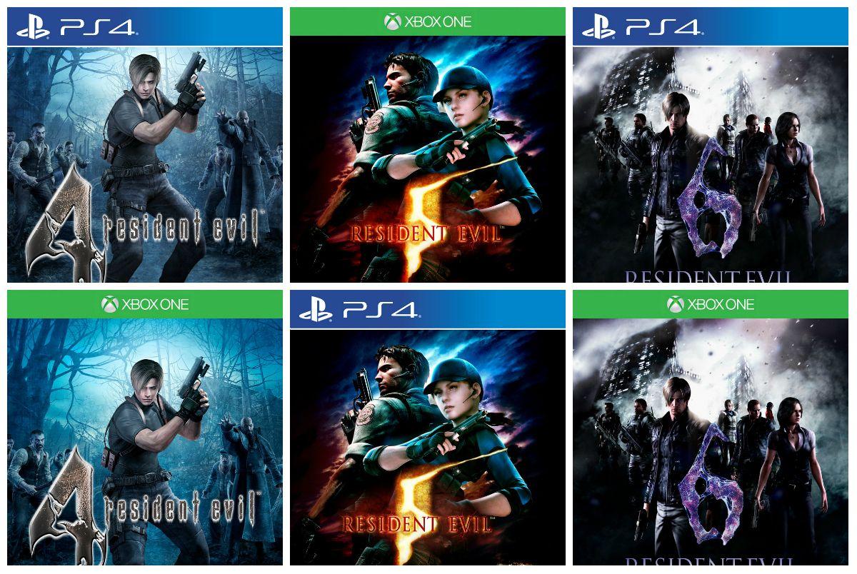 Resident Evil 4, 5 y 6 en HD