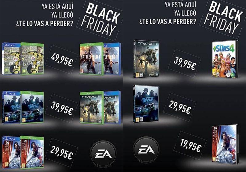 Las ofertas del Black Friday llegan a los mejores títulos de EA