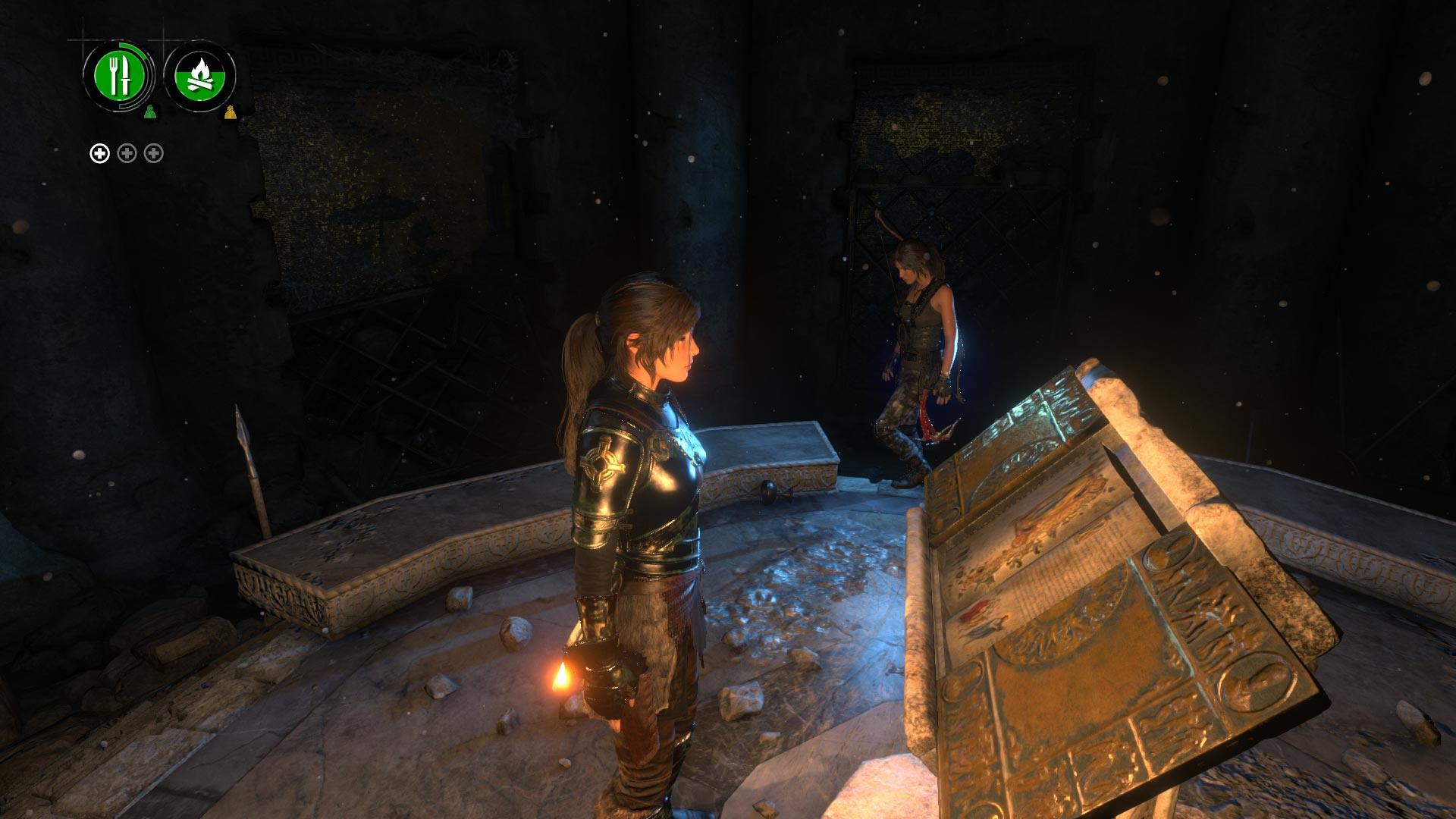 Explorando una tumba en cooperativo