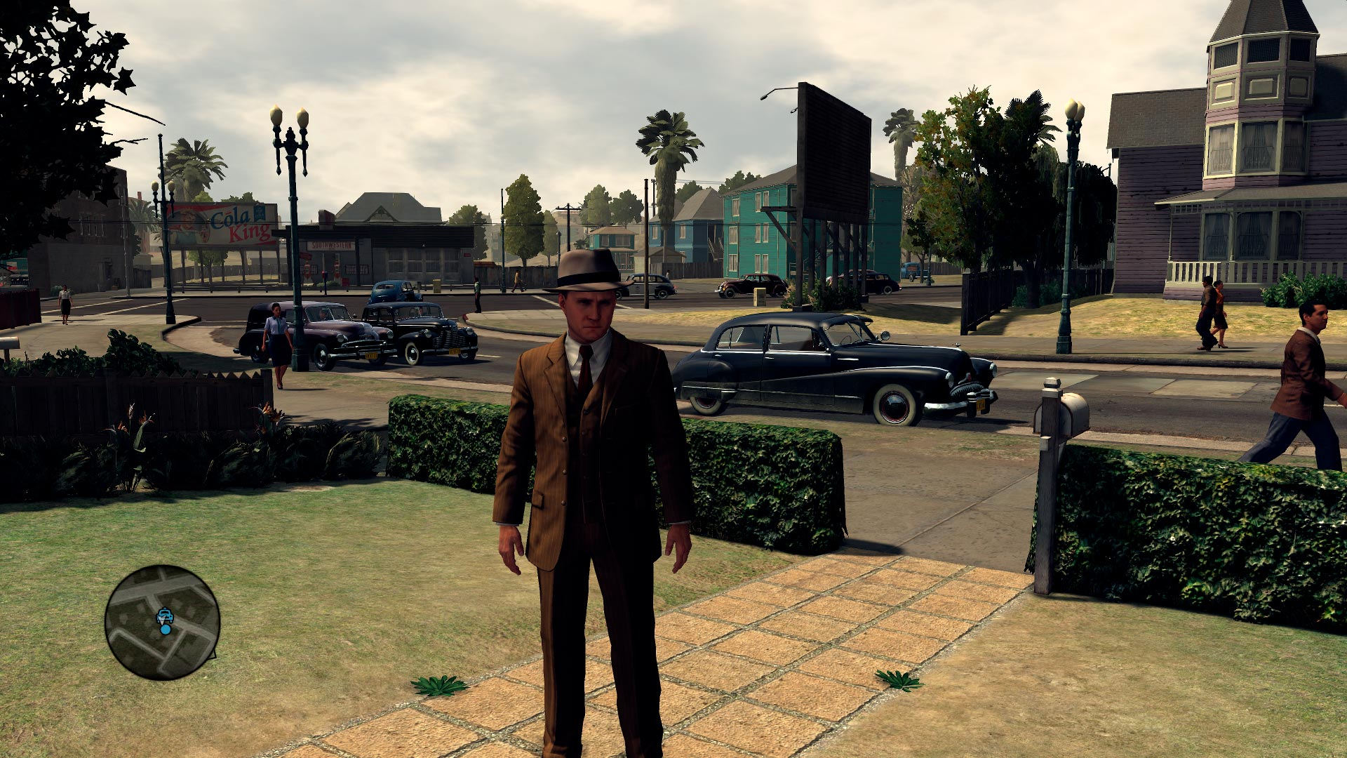 Phelps como detective en uno de los barrio de Los Ángeles