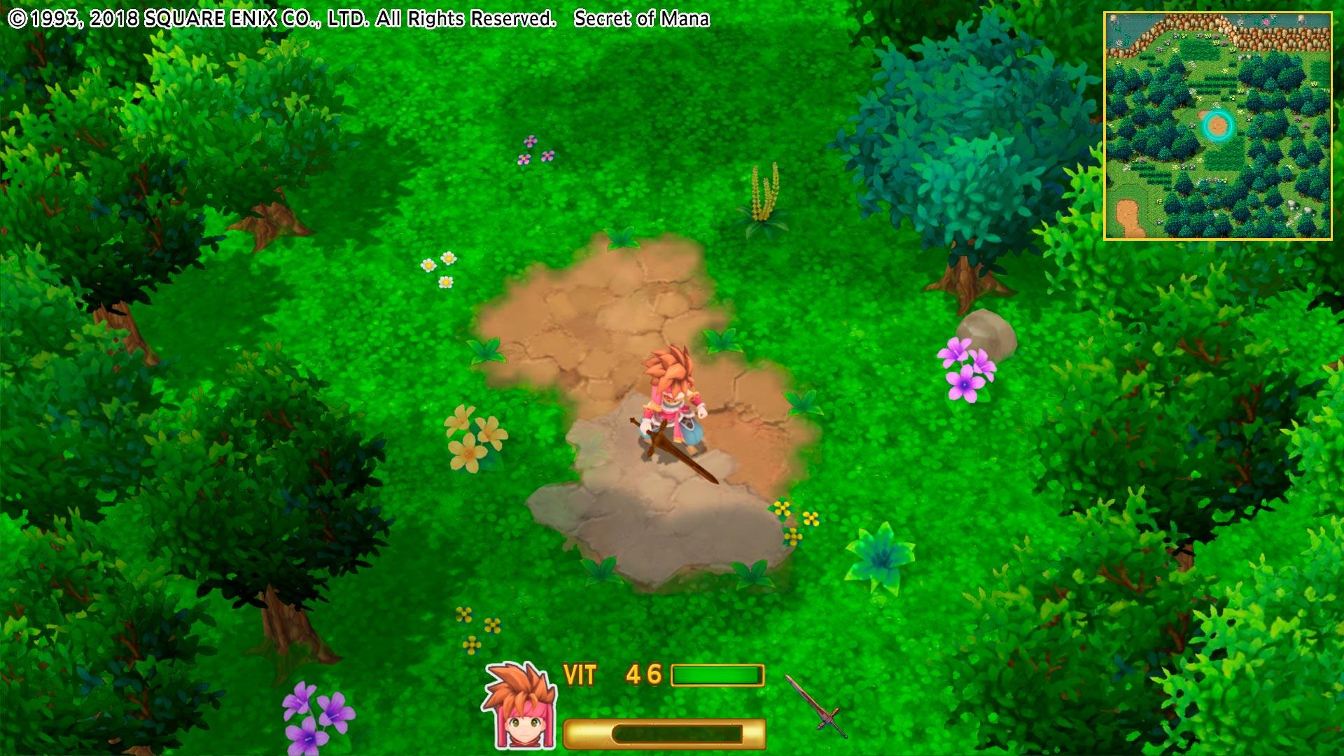 En el mapa se puede ver cómo era el juego original